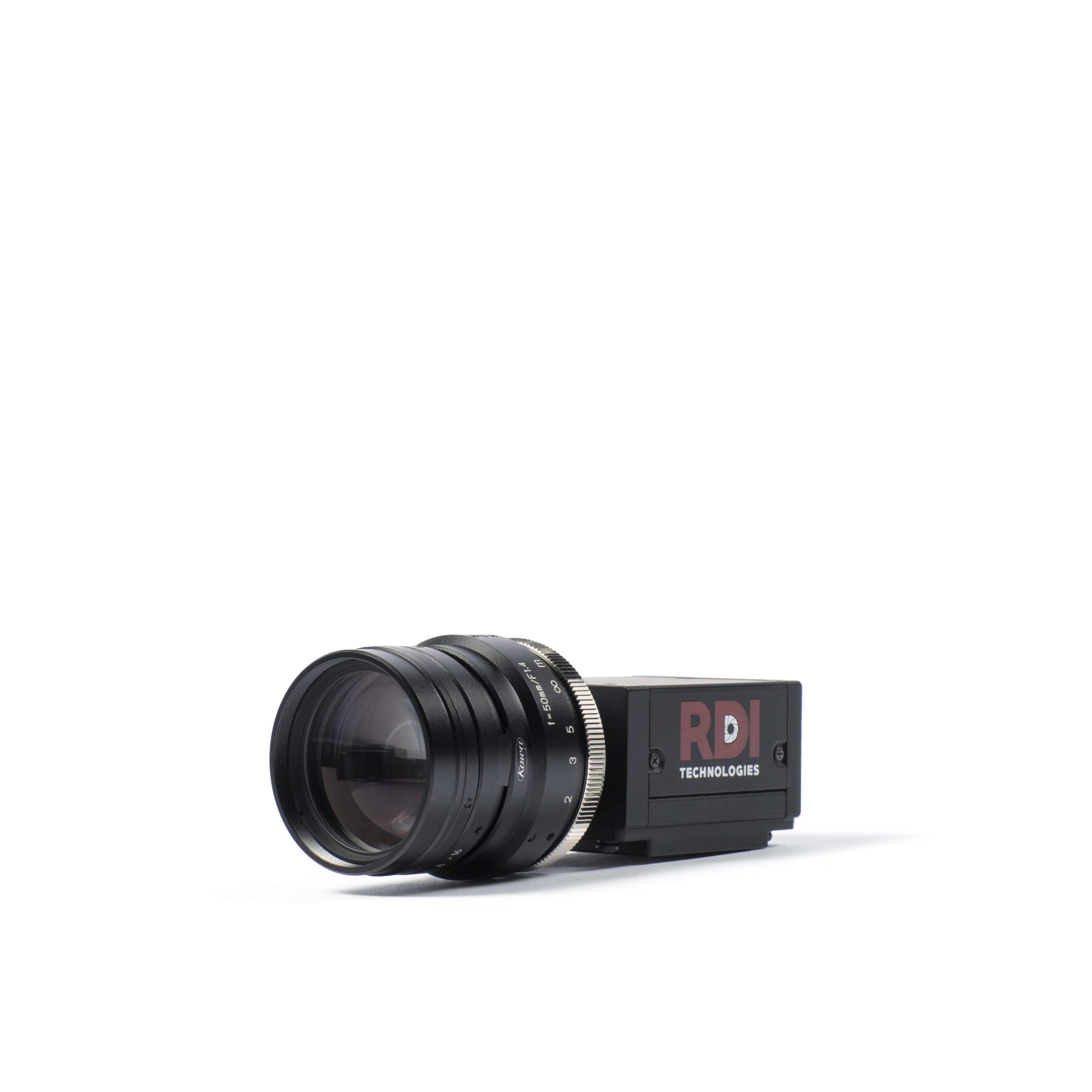 Iris M on ground with lens